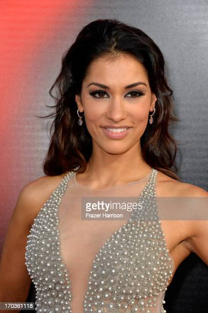 Actress Janina Gavankar attends the premiere of HBO's 'True Blood' Season 6 at ArcLight Cinemas Cinerama Dome on June 11 2013 in Hollywood California
