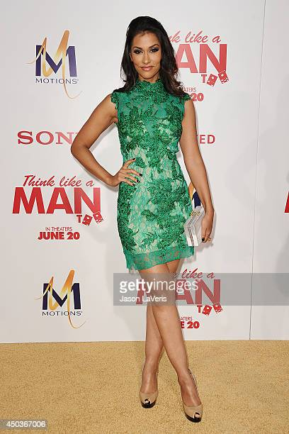 Actress Janina Gavankar attends the premiere of Think Like A Man Too at TCL Chinese Theatre on June 9 2014 in Hollywood California