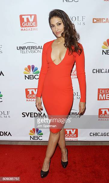 Actress Janina Gavankar attends the TV Guide Magazine celebrates Dick Wolf's Chicago series at LeGrande Lounge at The Time New York Hotel on February...