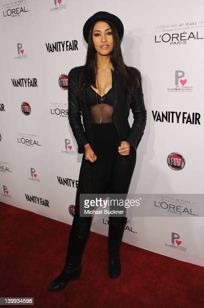Actress Janina Gavankar attends Vanity Fair L'Oréal Paris Fiathosted DJ Night in support of The Pablove Foundation on Saturday on February 25 2012 in...