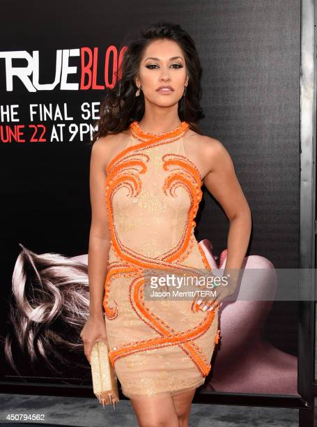 Actress Janina Gavankar ttends the premiere of HBO's 'True Blood' season 7 and final season at TCL Chinese Theatre on June 17 2014 in Hollywood...