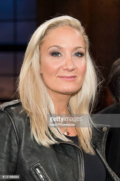 Actress Janine Kunze attends the 'Koelner Treff' TV Show at the WDR Studio on October 7 2016 in Cologne Germany