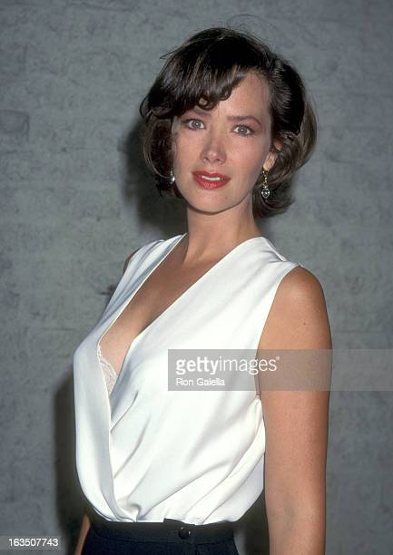 Actress Janine Turner attends the Desperado Westwood Premiere on August 21 1995 at Mann National Theatre in Westwood California