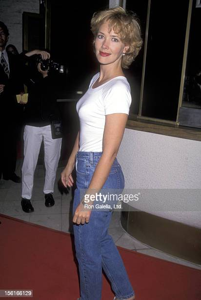 Actress Janine Turner attends the 'Multiplicity' Westwood Premiere on July 10 1996 at Mann National Theatre in Westwood California