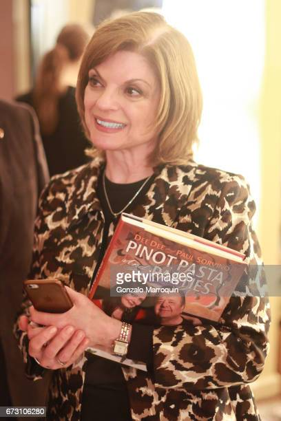 Actress Janis Corsair attends the Paul Dee Dee Sorvino celebrate their new book Pinot Pasta Parties at 200 East 57th Street on April 25 2017 in New...
