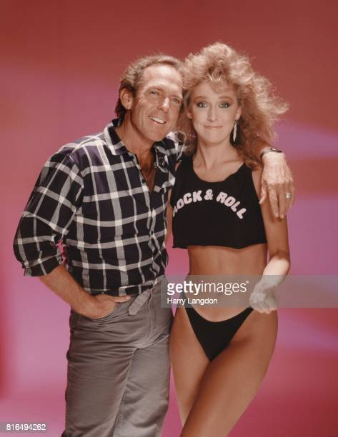 Actress Janis Farley and photographer Harry Langdon pose for a portrait in 1984 in Los Angeles California