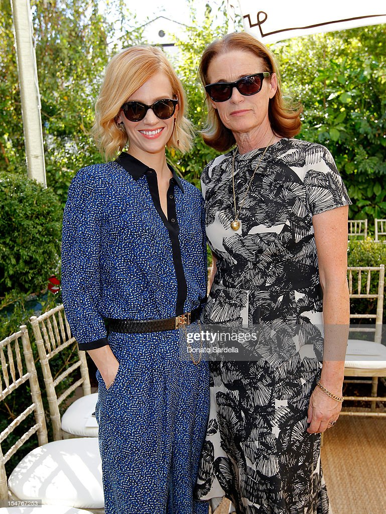Actress January Jones and Senior West Coast Editor of Vogue Lisa Love attend CFDA/Vogue Fashion Fund Event hosted by Lisa Love and Mark Holgate and sponsored by Audi, Beauty.com, American Express, and J Brand at Chateau Marmont on October 25, 2012 in Los Angeles, California.