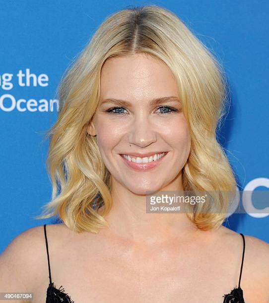 Actress January Jones arrives at A Concert For Our Oceans at Wallis Annenberg Center for the Performing Arts on September 28 2015 in Beverly Hills...