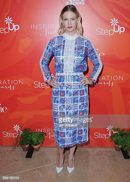 Actress January Jones arrives at Step Up's 13th Annual Inspiration Awards at The Beverly Hilton Hotel on May 20 2016 in Beverly Hills California