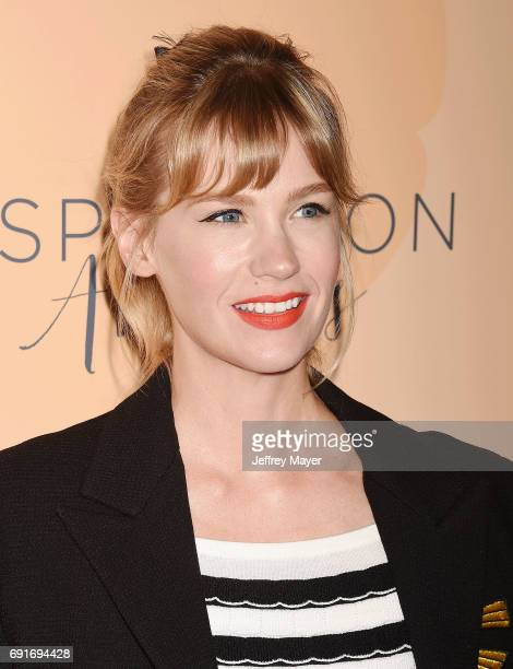 Actress January Jones arrives at the 14th Annual Inspiration Awards at The Beverly Hilton Hotel on June 2 2017 in Beverly Hills California