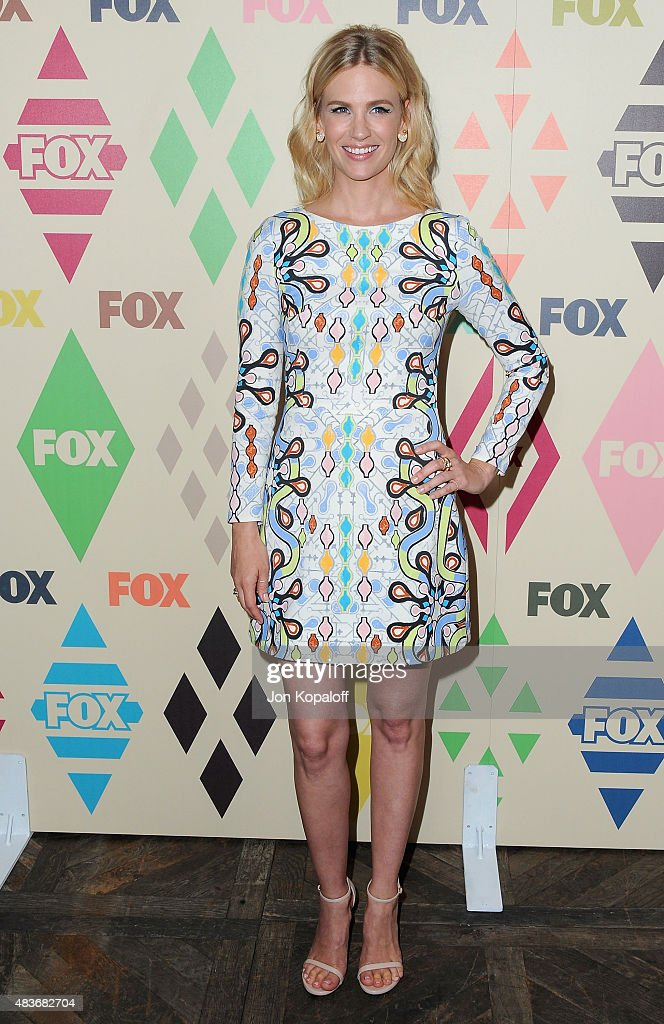 Actress January Jones arrives at the 2015 Summer TCA Tour FOX All-Star Party at Soho House on August 6, 2015 in West Hollywood, California.