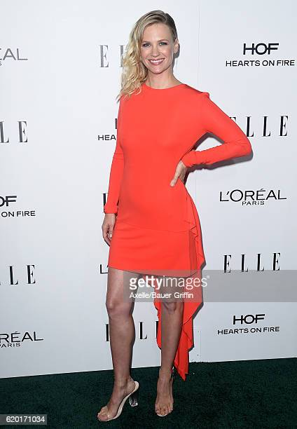 Actress January Jones arrives at the 23rd Annual ELLE Women In Hollywood Awards at Four Seasons Hotel Los Angeles at Beverly Hills on October 24 2016...