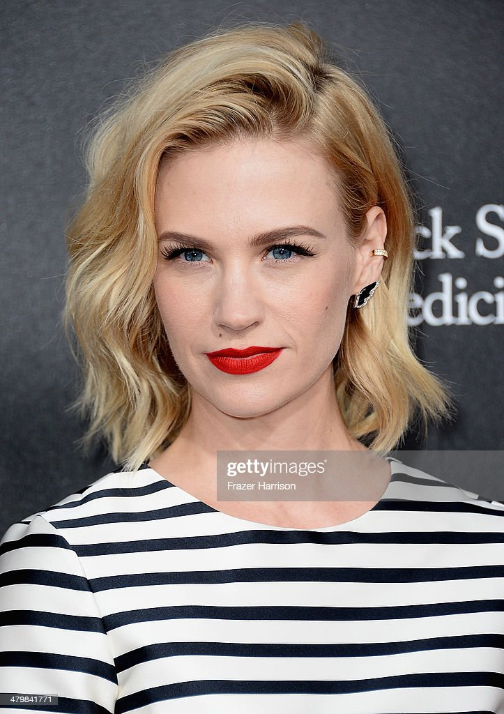 Actress January Jones arrives at the 2nd Annual Rebels With A Cause Gala at Paramount Studios on March 20, 2014 in Hollywood, California.