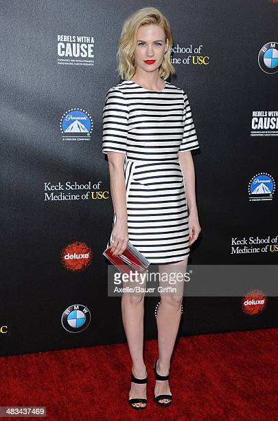 Actress January Jones arrives at the 2nd Annual Rebels With A Cause Gala at Paramount Studios on March 20 2014 in Hollywood California