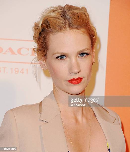 Actress January Jones arrives at the 3rd Annual Coach Evening To Benefit Children's Defense Fund at Bad Robot on April 10 2013 in Santa Monica...