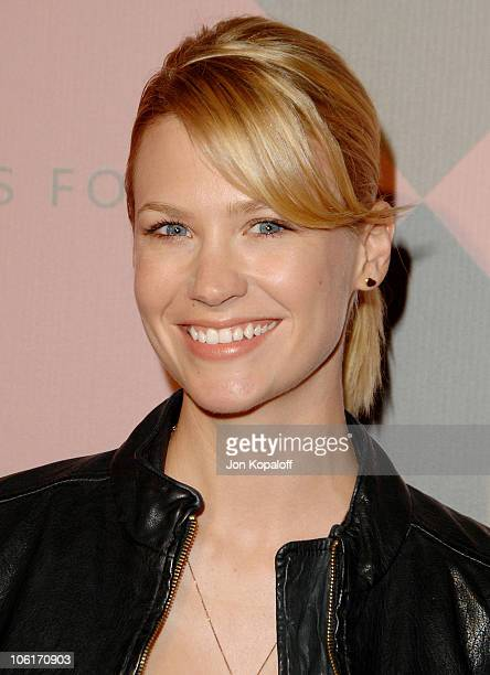 Actress January Jones arrives at 'The 7th Annual Awards Season Diamond Fashion Show' at the Beverly Hills Hotel on January 10 2008 in Beverly Hills...