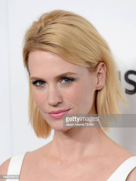 Actress January Jones arrives at the Premiere of AMC's Mad Men Season 6 at DGA Theater on March 20 2013 in Los Angeles California