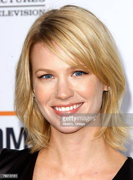 Actress January Jones arrives at the Premiere Screening of AMC's new Sony Pictures' Television drama Breaking Bad held on January 15 2008 at The Cary...