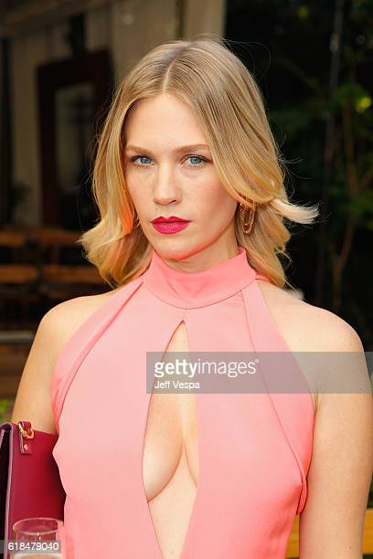Actress January Jones at the CFDA/Vogue Fashion Fund Show and Tea presented by kate spade new york at Chateau Marmont on October 26 2016 in Los...