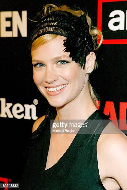 Actress January Jones attends AMC's Mad Men Season Two Wrap Party Sponsored by Heineken on August 23, 2008 in Los Angeles, California.