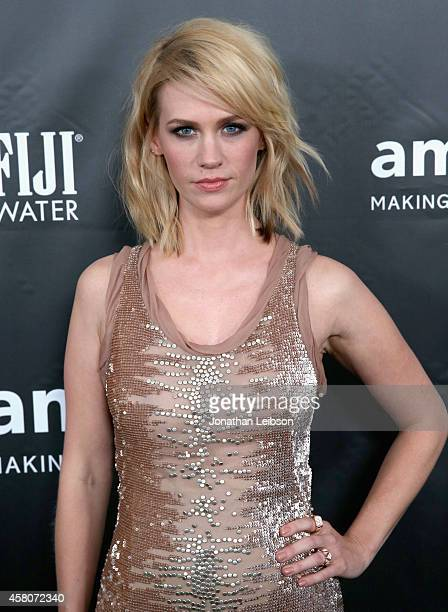 Actress January Jones attends amfAR LA Inspiration Gala honoring Tom Ford at Milk Studios on October 29 2014 in Hollywood California