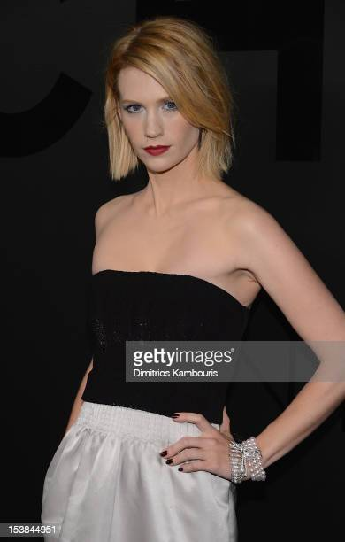 Actress January Jones attends Chanel Bijoux de Diamant 80th Anniversary on October 9 2012 in New York City