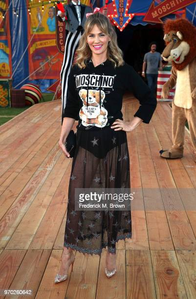 Actress January Jones attends Moschino Spring/Summer 19 Menswear and Women's Resort Collection at the Los Angeles Equestrian Center on June 8 2018 in...