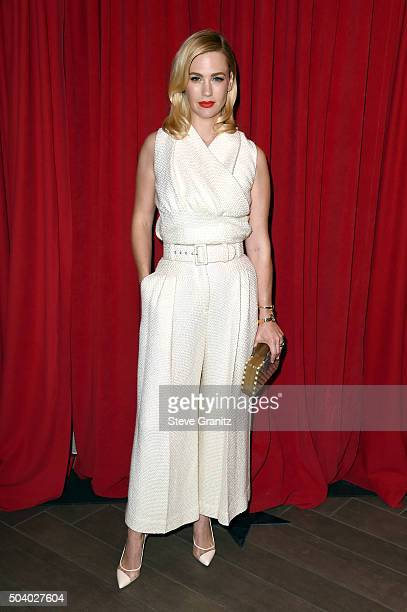 Actress January Jones attends the 16th Annual AFI Awards at Four Seasons Hotel Los Angeles at Beverly Hills on January 8 2016 in Beverly Hills...