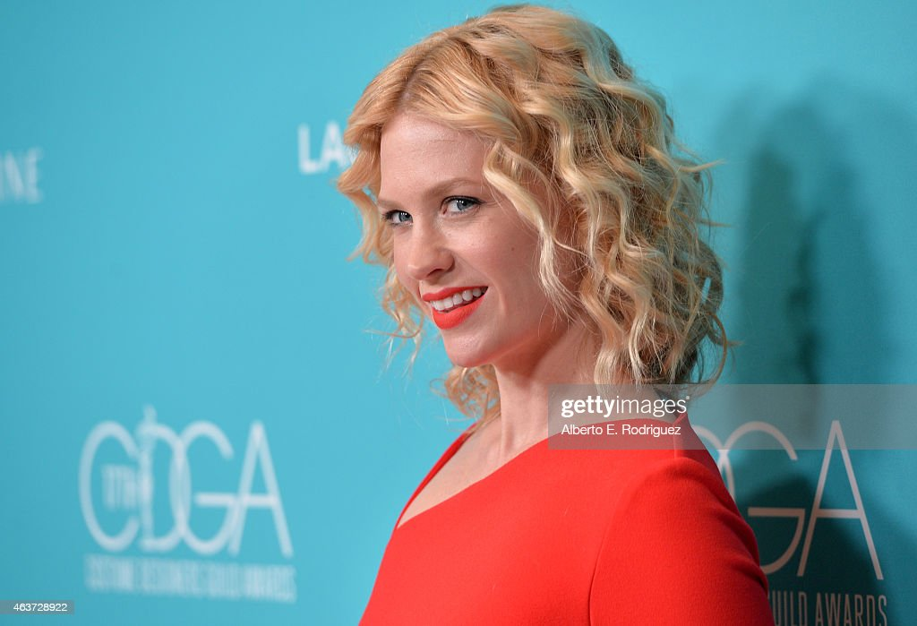 Actress January Jones attends the 17th Costume Designers Guild Awards with presenting sponsor Lacoste at The Beverly Hilton Hotel on February 17, 2015 in Beverly Hills, California.
