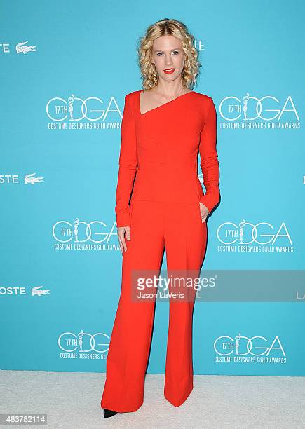 Actress January Jones attends the 17th Costume Designers Guild Awards at The Beverly Hilton Hotel on February 17 2015 in Beverly Hills California