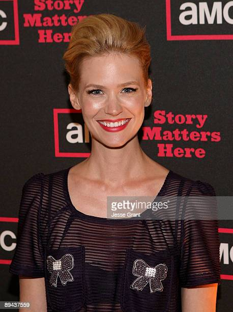 Actress January Jones attends the 2009 TCA AMC cocktail reception at The Langham Huntington Hotel on July 28, 2009 in Pasadena, California.