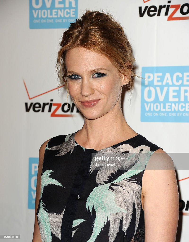 Actress January Jones attends the 41st annual Peace Over Violence Humanitarian Awards at Beverly Hills Hotel on October 26, 2012 in Beverly Hills, California.