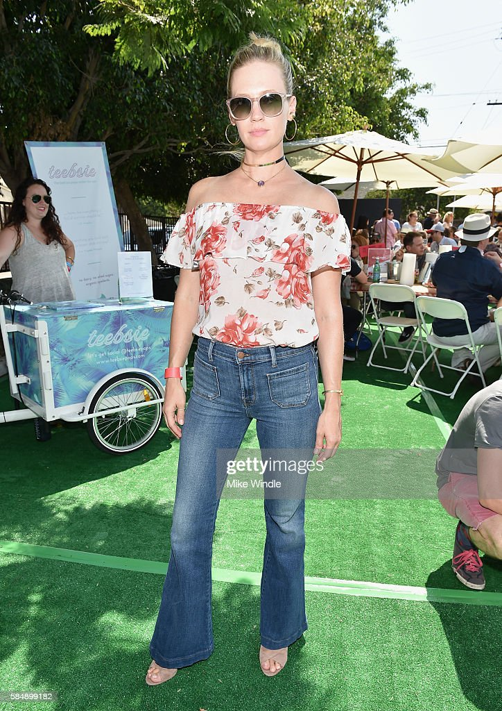 Actress January Jones attends the 4th Annual Crab Cake LA fundraiser event presented by Cadillac and Agavero to benefit Chrysalis on July 31, 2016 in Los Angeles, California.