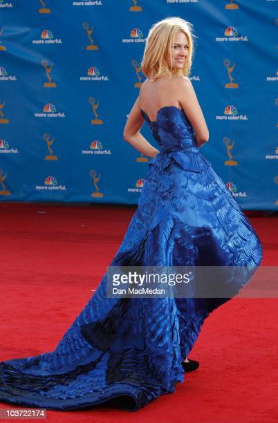 Actress January Jones attends the 62nd Annual Primetime Emmy Awards at Nokia Theatre Live LA on August 29 2010 in Los Angeles California