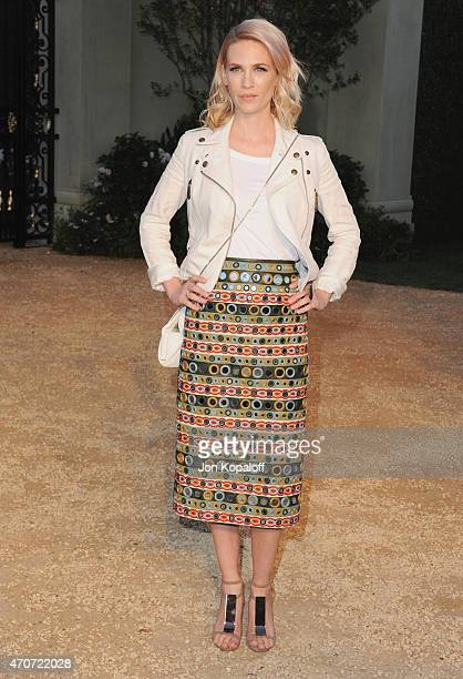 """Actress January Jones attends the Burberry """"London in Los Angeles"""" event at Griffith Observatory on April 16, 2015 in Los Angeles, California."""