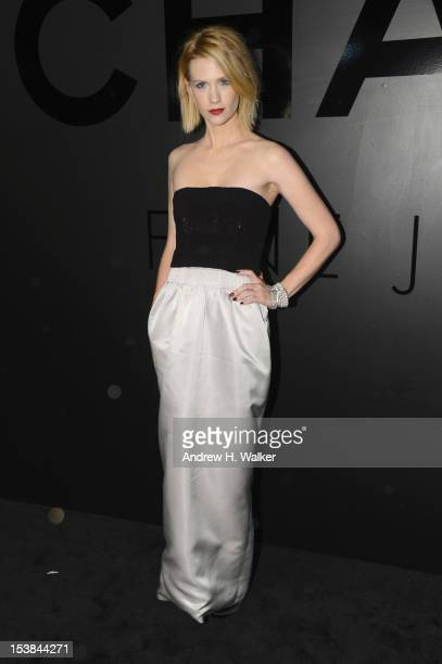 Actress January Jones attends the celebration of CHANEL FINE JEWELRY'S 80th anniversary of the Bijoux De Diamants collection created by Gabrielle...