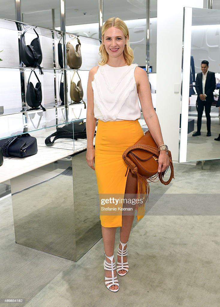 Actress January Jones Attends The Exclusive Launch Of Altuzarra Handbags With Joseph At Barneys New