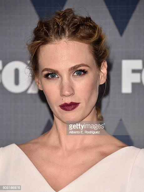 Actress January Jones attends the FOX Winter TCA 2016 AllStar Party at The Langham Huntington Hotel and Spa on January 15 2016 in Pasadena California