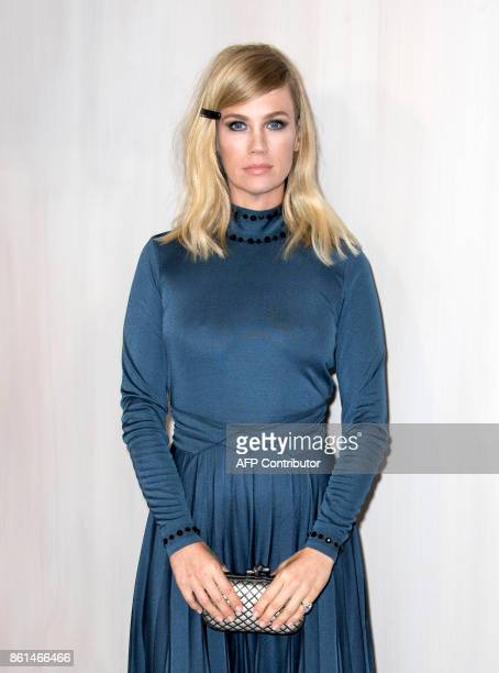Actress January Jones attends the Hammer Museum Gala in the Garden honoring Ava Duvernay and Hilton Als sponsored by Bottega Veneta on October 14...
