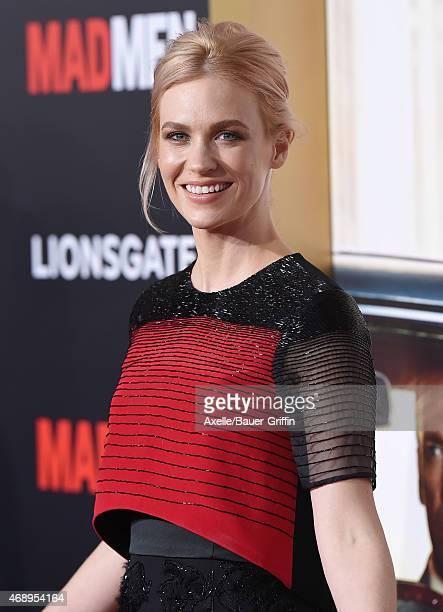 Actress January Jones attends the 'Mad Men' Black Red Ball at Dorothy Chandler Pavilion on March 25 2015 in Los Angeles California