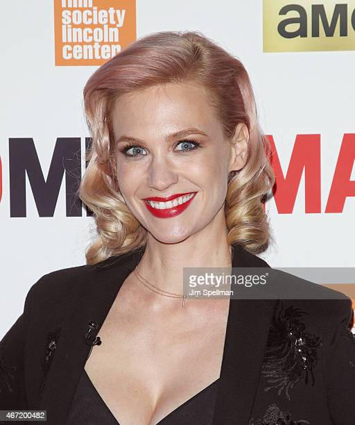 Actress January Jones attends the 'Mad Men' special screening at The Film Society of Lincoln Center on March 21 2015 in New York City