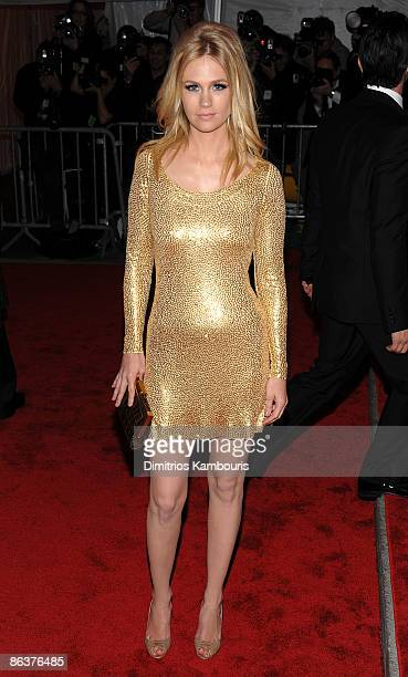 """Actress January Jones attends """"The Model as Muse: Embodying Fashion"""" Costume Institute Gala at The Metropolitan Museum of Art on May 4, 2009 in New..."""