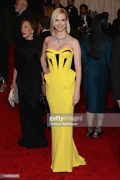 Actress January Jones attends the Schiaparelli And Prada Impossible Conversations Costume Institute Gala at the Metropolitan Museum of Art on May 7...