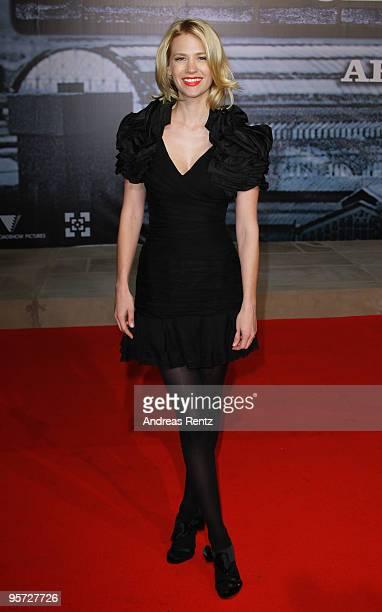 Actress January Jones attends the 'Sherlock Holmes' German Premiere at CineStar on January 12 2010 in Berlin Germany