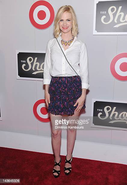 Actress January Jones attends The Shops At Target Launch Party on May 1 2012 in New York United States