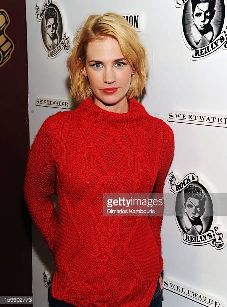 Actress January Jones attends the Sweetwater official cast and filmmakers party sponsored by True Religion on January 22 2013 in Park City Utah