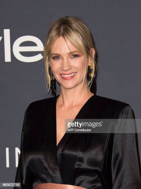 Actress January Jones attends the Third Annual InStyle Awards on October 23 in Los Angeles, California. / AFP PHOTO / VALERIE MACON