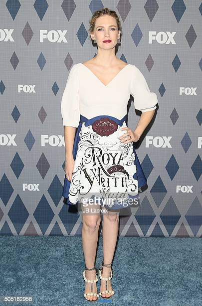 Actress January Jones attends the Winter TCA Tour FOX Winter TCA 2016 AllStar Party at the Langham Huntington Hotel on January 15 2016 in Pasadena...