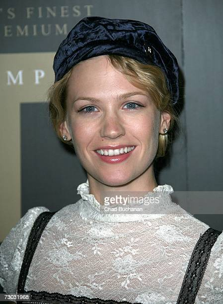 Actress January Jones attends Trump Vodka launch party at Les Deux on January 17, 2007 in Los Angeles, California.