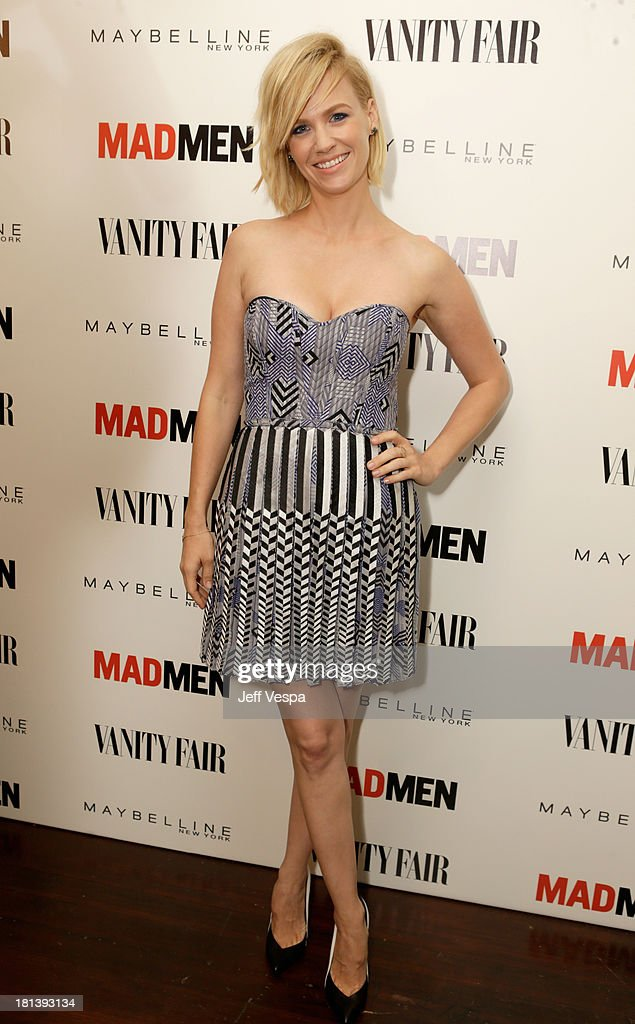 Actress January Jones attends Vanity Fair and Maybelline toast to 'Mad Men' at Chateau Marmont on September 20, 2013 in Los Angeles, California.